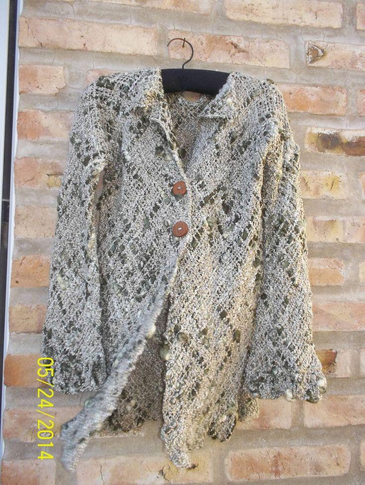 Saco tejido en telar
