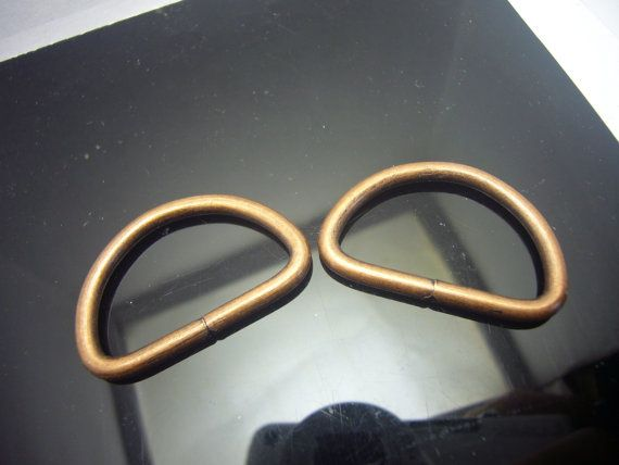 bag hardware  1 inch  copper  D Ring  4 pcs  by HeartBeadsSupply https://www.etsy.com/sg-en/shop/HeartBeadsSupply #copperfindings, #craftfindings