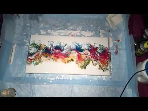 022) Acrylic Pouring Flip and Drag - Airbrush - YouTube