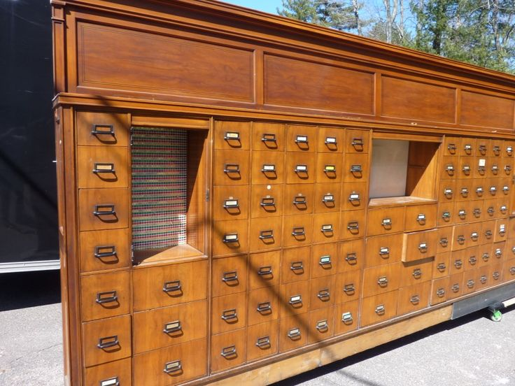 Huge Apothecary Cabinet
