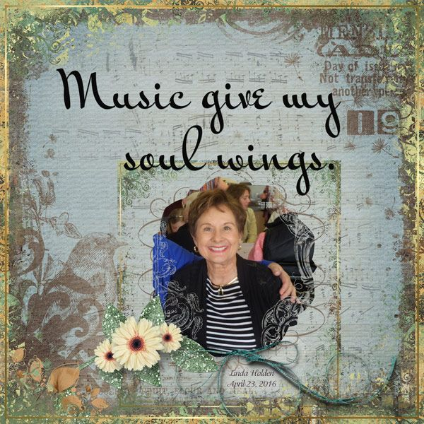 Music Gives by Linda Holden. Kit: Various kits by various designers http://scrapbird.com/
