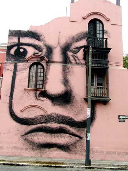 Dali street art ( Lima, Peru )