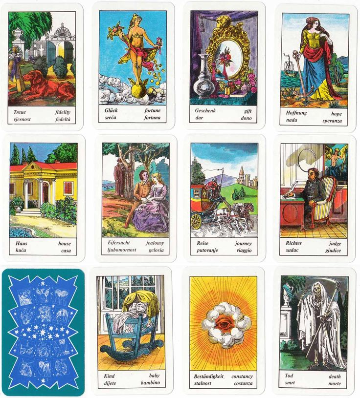 Hungarian fortune telling cards divination and tarot