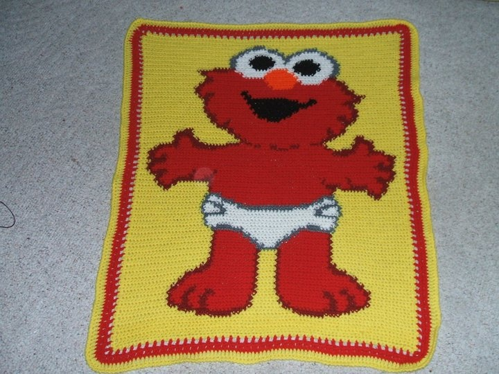 Elmo crocheted character blanket Afghans and Blankets ...