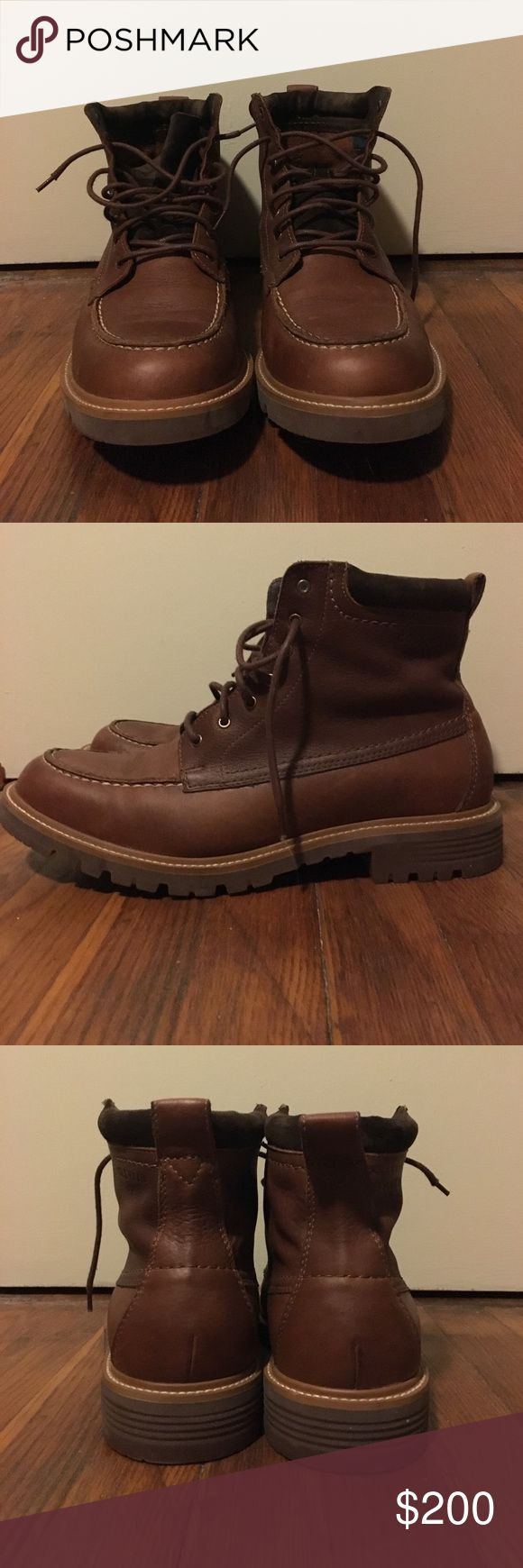 FINAL SALE!!!! Cole Haan men's boots Brown Cole Haan boots for men. Only worn once! Looks BRAND NEW! Water proof! GREAT CONDITION! Cole Haan Shoes Boots