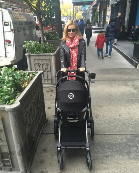 Mezzo-soprano Katherine Jenkins with her little one in a CYBEX PRIAM on the streets of NYC!
