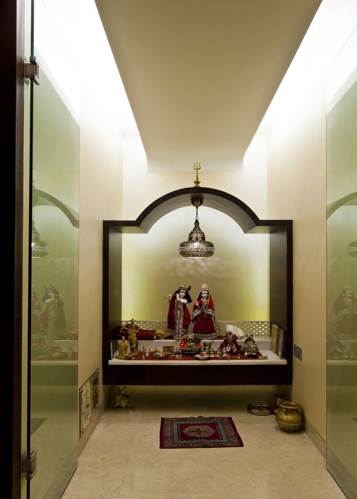 Pooja Room Design by Architect Rajesh Patel Consultants Pvt. Ltd., Architect in Mumbai, Maharashtra.