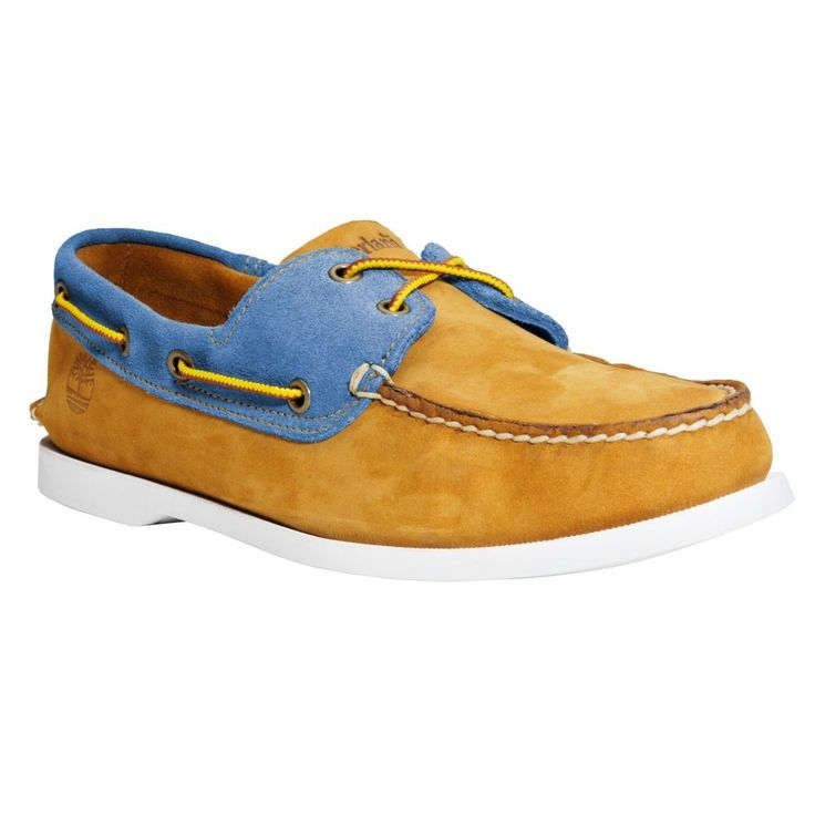 timberland boat shoes blue and brown