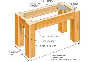 I can do this...easy to put up and easy to refashion into a entry table.