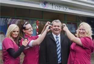 Family hairdressing salon Topaz in Kingsworthy was one of many businesses in Hampshire affected by the severe weather last winter. But this winter the salon is bursting with confidence once again, thanks to a helping hand from Government and Winchester City Council.