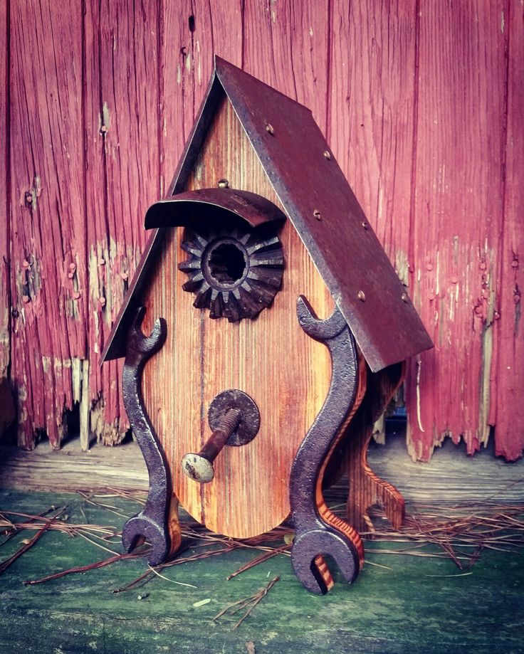 Wrenched wren birdhouse.