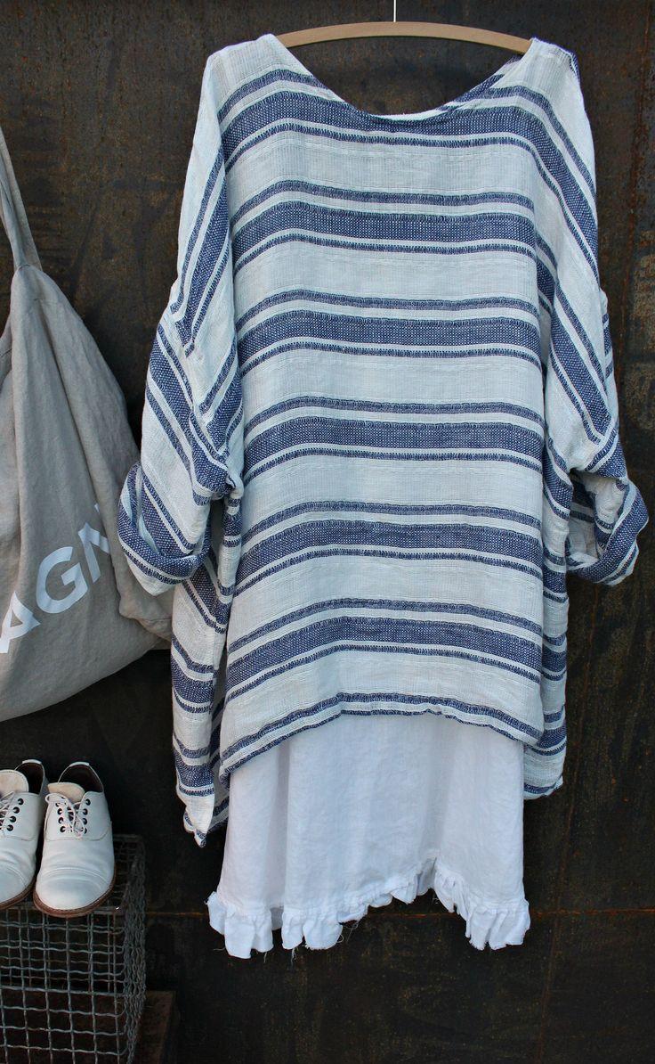 Striped linen top MegbyDesign