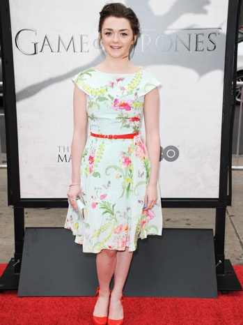 Maisie Williams and Game of Thrones sibling Sophie Turner noted that they seemed to be dressing as each others characters, with Williams not looking at all like tomboy Arya Stark.