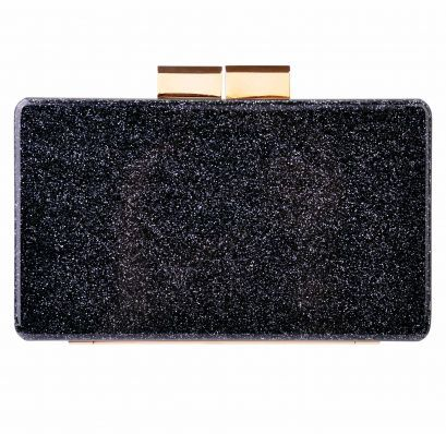 URANIA GAZELLI Black/Silver Glitter Clutch on sale now! Grab it HALF PRICE www.AM21.com