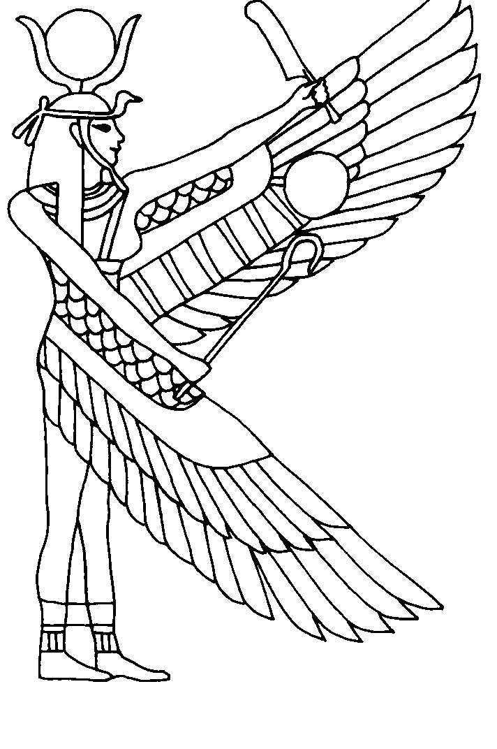 Ancient Egypt Coloring Pages 309