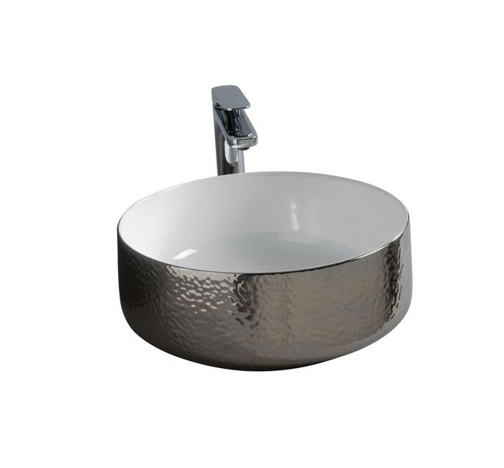 COGNAC countertop washbasin #TheArtceram #platinum #bathroom #design - Thin-rim washbasins
