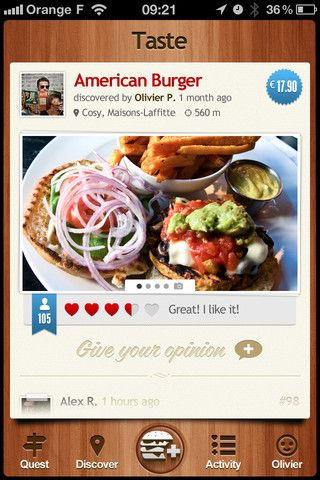 #UI #design #app Burger Quest