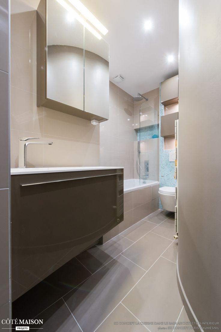 cr ation d 39 une petite salle de bains gain de place et