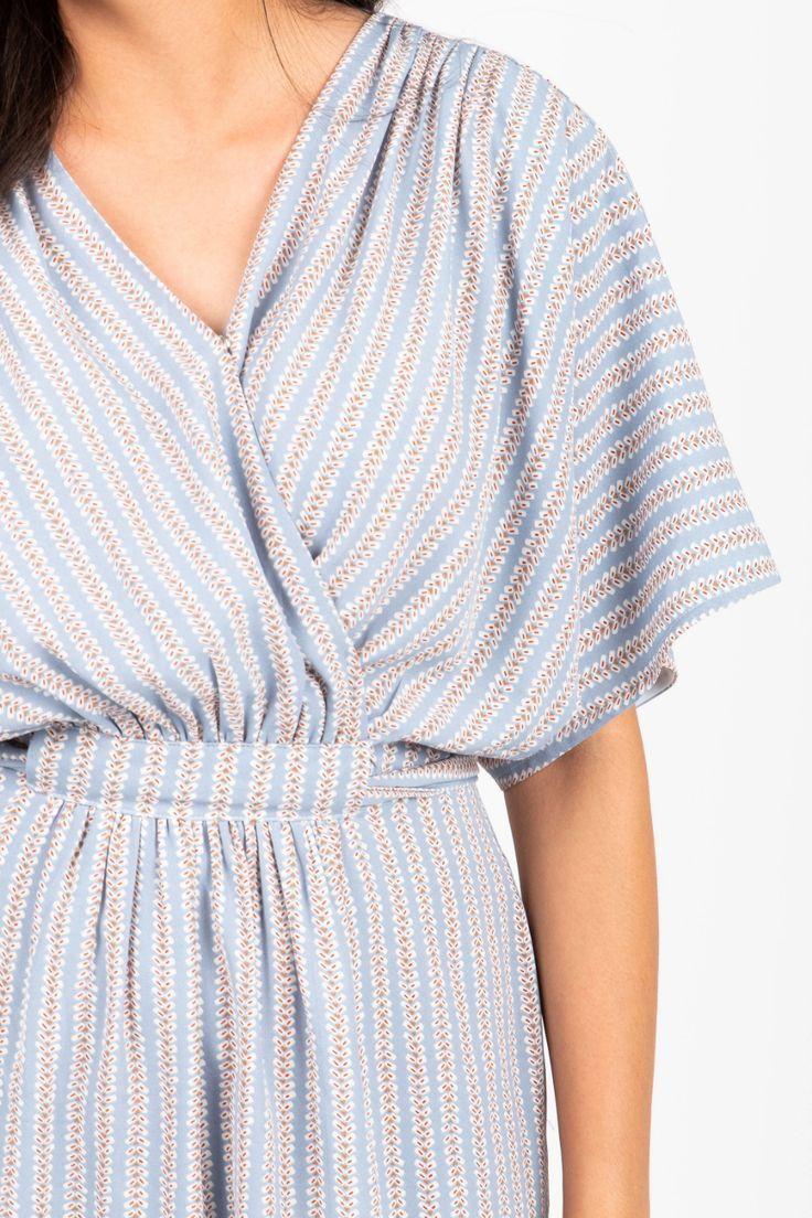 Vetiver Ali Striped Wrap Dress Striped Dress Summer Fashion Clothes [ 1692 x 1128 Pixel ]