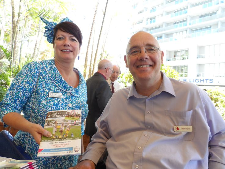 """Julie Hartley-Jones was happy to provide me with a copy of the Cairns Amateurs """"Fun, Fashion and Racing"""" booklet at an Amateurs Brunch today."""