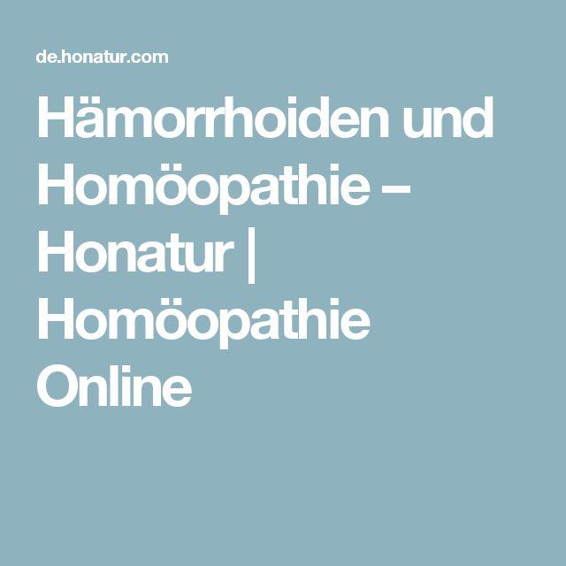 Hämorrhoiden und Homöopathie – Honatur | Homöopathie Online