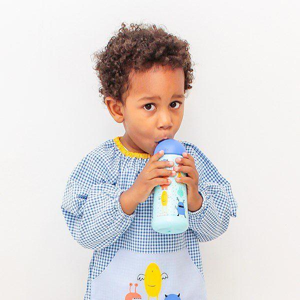 SUAVINEX Hrníček s brčkem BOOO zelená | Kašpárek Baby