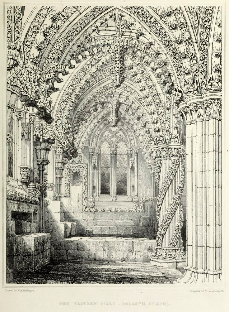 East Aisle Interior Of 15th Century Rosslyn Chapel