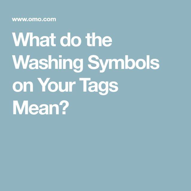 what do washing instruction symbols mean