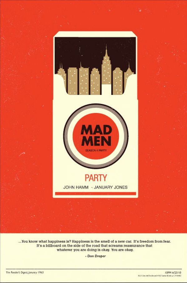 Mad Men: retro design. A nice way to change up the over use of a skylines.