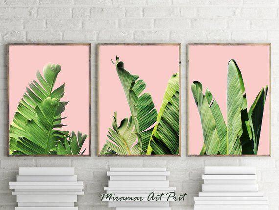 Tropical Leaves Palm Wall Art Prints