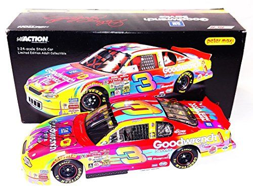 AUTOGRAPHED 2000 Dale Earnhardt Sr. #3 Goodwrench Racing PETER MAX PAINT SCHEME (Chevy Monte Carlo) Signed 1/24 Action NASCAR Diecast Car with COA