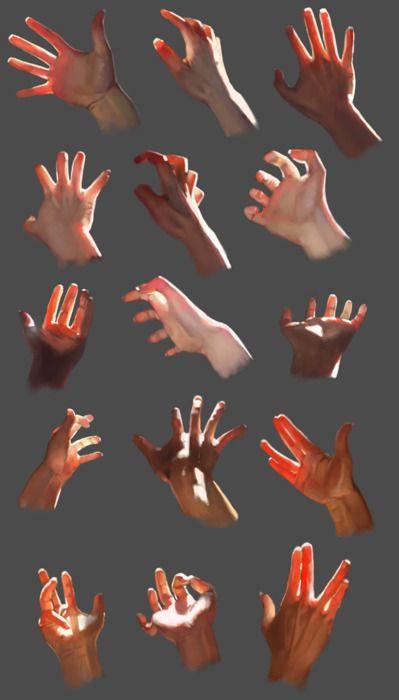 skin translucency on hands