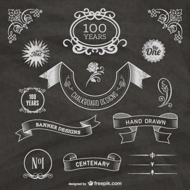 free-chalkboard-centenary- website with chalk fonts