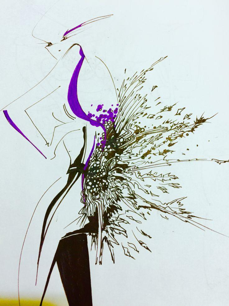 Fashion illustrator, artist ,sketch,sketchbook