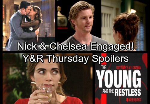 The Young and the Restless Spoilers: Thursday, February 15 – Chelsea Proposes to Nick – Victoria Schemes – J.T. Apologizes | Celeb Dirty Laundry