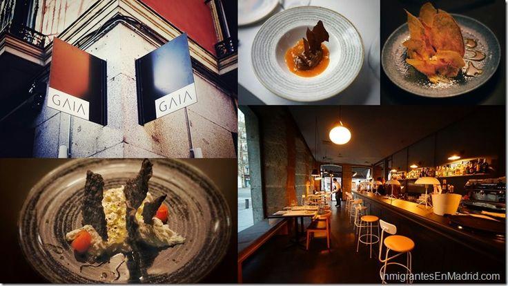 Gaia: Un espacio gastronómico plural en Madrid http://www.inmigrantesenmadrid.com/gaia-restaurante-madrid/