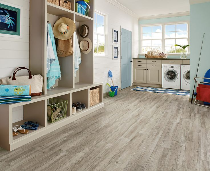 Love The Taupe Flooring In This Mudroom Luxury Vinyl