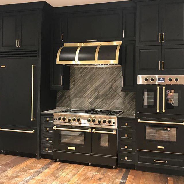 Matte Black Brass Colorinthekitchen Bluestarkitchen Unleashyourinnerchef Kitchensofinstagram Kitche Custom Kitchens Kitchen Design Appliances Design