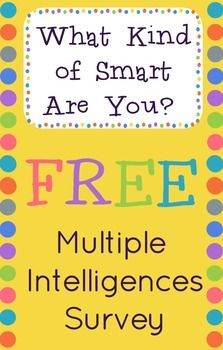 Multiple Intelligences Survey For Elementary Kids