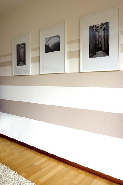 die besten 25+ wandgestaltung streifen ideen auf pinterest - Wohnzimmer Ideen Wand