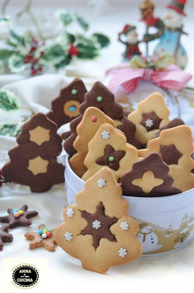 Dolci Di Natale Biscotti.Alberelli Natalizi Con Frolla Bicolore Ricette Di Dolci Natalizi Biscotti Di Natale Dolci Di Natale