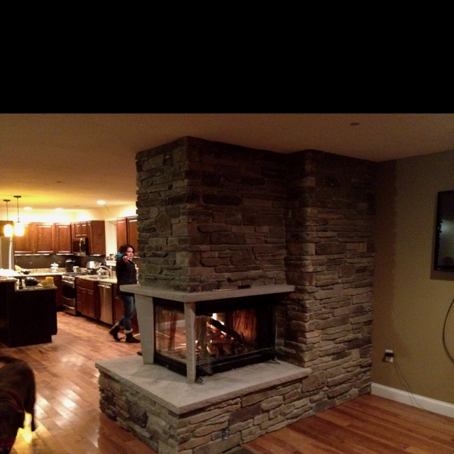 25 best ideas about 3 sided fireplace on