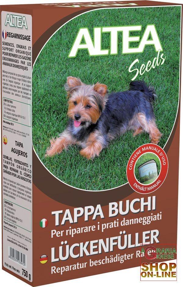 ALTEA TAPPA BUCHI SEME+FERTILIZZANTE+TAMPONE ORGANICO PER RIPARARE I PRATI DANNEGGIATI 750 g http://www.decariashop.it/altea/476-altea-tappa-buchi-semefertilizzantetampone-organico-per-riparare-i-prati-danneggiati-750-g.html