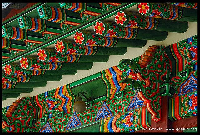 Roof Decorations at the Entrance to Huijeondang Hall at Ch… | Flickr