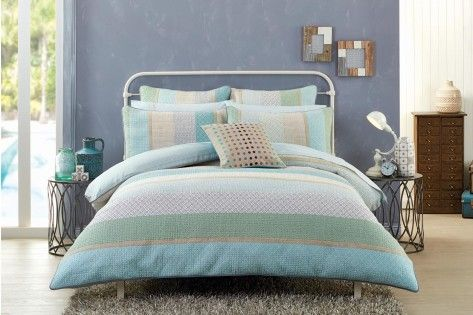 Quilted doona cover