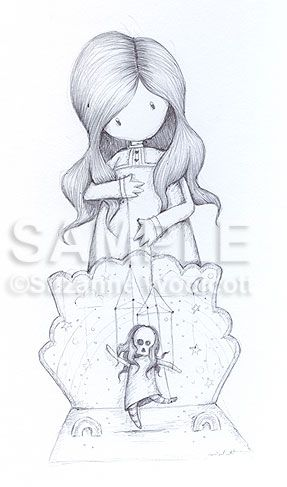 Like A Puppet Original Sketch Sold Gorjuss