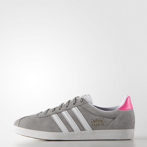 brand new 01c33 2727d ... Adidas Gazelle OG Schuh Mgh Solide Grau  weiß  Solar Pink (S81330) - Adidas  NEO ...