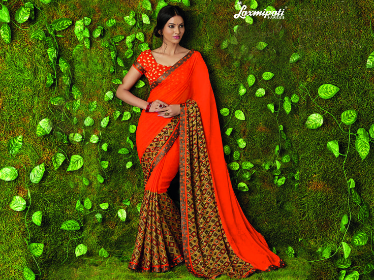 Look this awesome #saree at an any occasion by wearing the Orange Georgette & Jacquard Saree. Make a statement by donning this stylish saree. Rich in material and of pure ethnic essence, this saree will be a collector's item in your fabulous collection. Get it now! #Catalogue #SURMAI Price - Rs. 1392.00  #Sarees #‎ReadyToWear ‪#‎OccasionWear ‪#‎Ethnicwear ‪#‎FestivalSarees ‪#‎Fashion ‪#‎Fashionista ‪#‎Couture ‪#‎LaxmipatiSaree ‪#‎Autumn ‪#‎Winter ‪#‎Wo