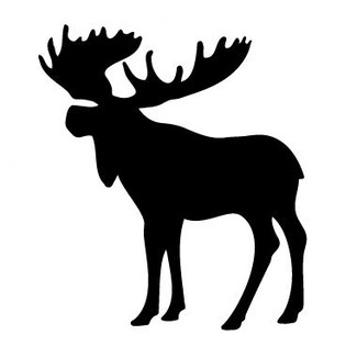 Avalisa Silhouette - Moose Stretched Wall Art - Moose Silhouette