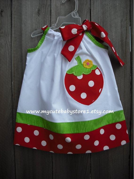 Sweet Strawberry pillowcase Dress
